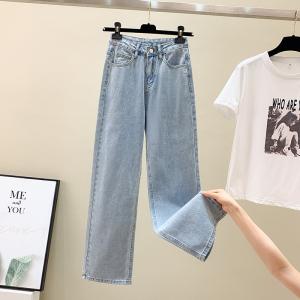 YF70825# 牛仔裤女高腰...