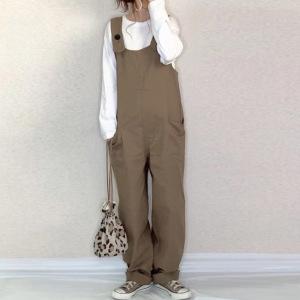 YF74105# 秋装新款OL通勤长裤素色女士时尚直筒宽松连体裤 服装批发女装直播货源