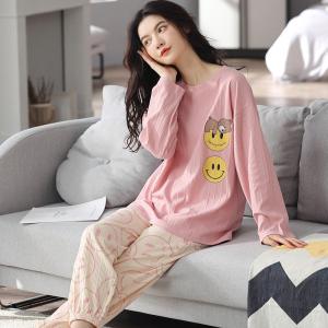 YF68881# 睡衣新款简约韩版时尚气质家居服套装 服装批发女装直播货源