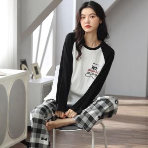 YF68887# 睡衣新款简约韩版时尚气质家居服套装 服装批发女装直播货源