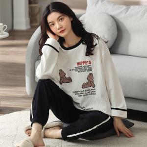 YF68889# 睡衣新款简约韩版时尚气质家居服套装 服装批发女装直播货源