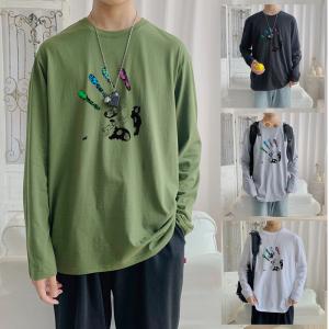 CX6933# 最便宜服装批发 纯棉套头圆领T恤情侣装秋季打底衫圆领长袖男女外套