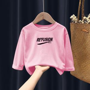 CX6812# 最便宜服装批发 女童春秋季新款上衣儿童小学生中童韩版时尚加绒洋气套头卫衣