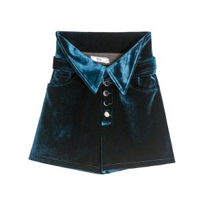 YF70510# 秋冬新款丝绒高腰短裤时尚超火ins 服装批发女装直播货源
