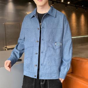 YF75431# 新款青年夹克男款流行棒球灯芯绒条纹外套飞行员夹克潮 服装批发服饰直播货源