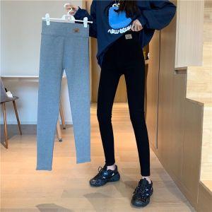 YF74977# 加厚棉打底裤紧身高腰显瘦外穿弹力运动小脚铅笔裤 服装批发女装直播货源