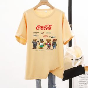 CX7063# 最便宜服服装批发 新款纯棉夏季圆领短袖男女T恤卡通宽松大版上衣情侣装