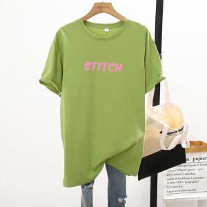 CX7054# 最便宜服服装批发 新款纯棉夏季圆领短袖男女T恤卡通宽松大版上衣情侣装