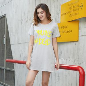 CX7049# 最便宜服服装批发 夏季新款女装中长款宽松潮短袖T恤八色百搭情侣学生