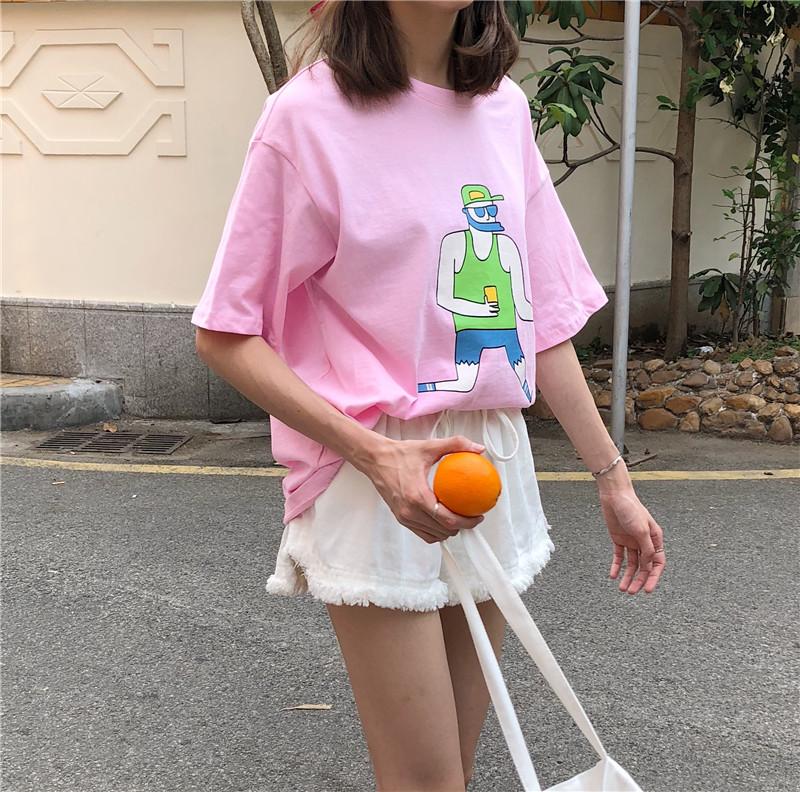 实拍趣味T恤+毛边洗水裤 分开拍 实价 小视频