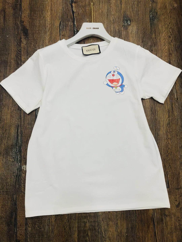 明星同款印花多拉A梦叮当猫大码宽松休闲女纯棉T恤欧美时尚T恤