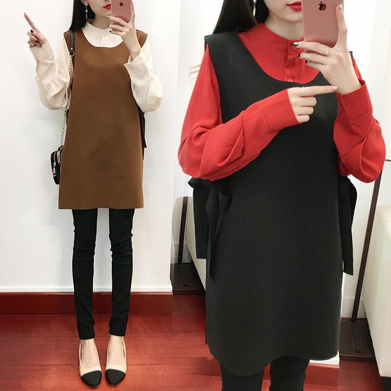 2018秋冬新款加肥加大胖mm顯瘦套裝大碼女裝兩件套連衣裙200斤潮