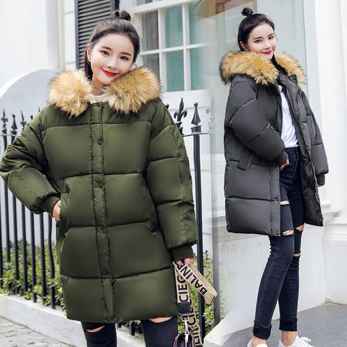 实拍2018新款秋冬装羽绒服女宽松ulzzang面包服bf学生棉服ins外套