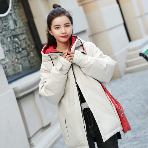 实拍2018新款羽绒服女韩版时尚宽松BF学生棉衣面包服短款ins外套