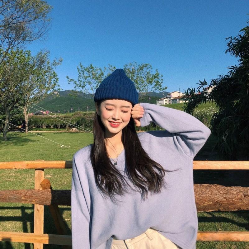 韩国ins 元气少女奶糖果色系 好好看的毛线帽阿~ 现货实价不退换