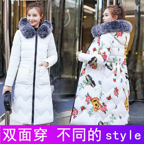 实拍18棉衣女中长款过膝加厚羽绒棉服面包服韩版棉袄冬季外套