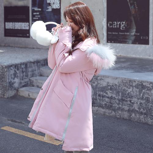 实拍2018新款羽绒棉服加厚外套女bf派克服棉袄chic冬季中长款棉衣