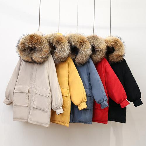 实拍18新款冬季羽绒服女韩版中长款宽松bf学生棉衣面包服外套ins