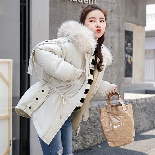 2018冬季实拍韩国东大门秋冬装羽绒服女大毛领学生棉衣外套棉袄女