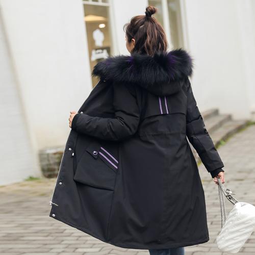 实拍2018新款羽绒服女韩版中长款时尚气质BF棉服派克服外套ins
