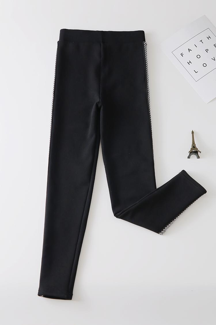 实拍2018韩版风打底裤加绒加厚新款外穿运动九分裤纯棉显瘦紧身裤