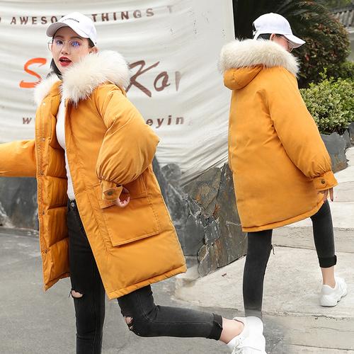 实拍2018新款冬季羽绒服女中长款宽松ulzzang学生bf面包服ins棉服