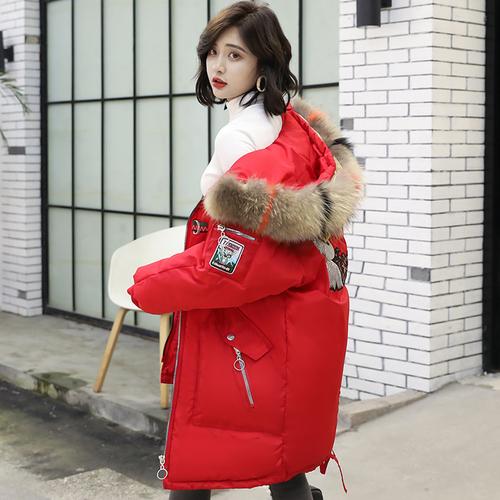 实拍新款冬装羽绒服韩版大码女装宽松中长款棉服BF外套面包服ins
