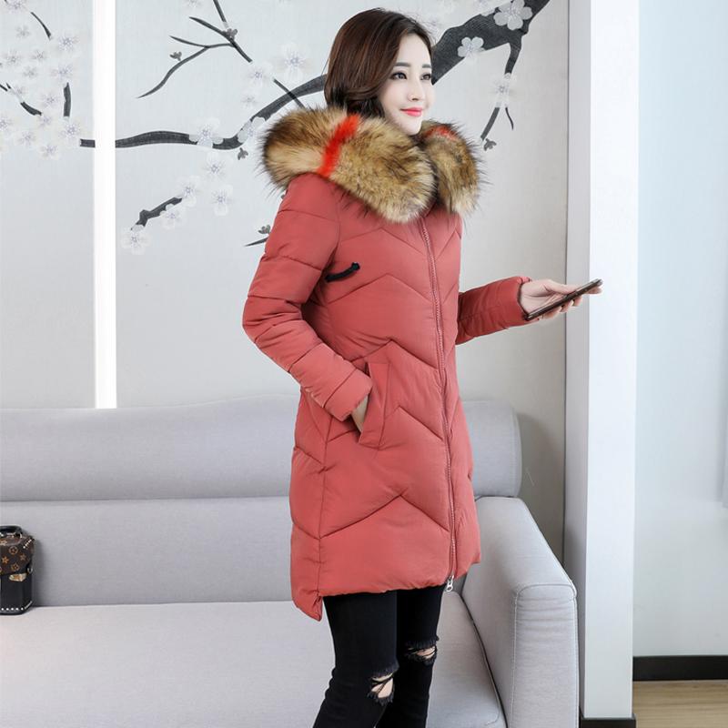 大码装XL-7XL实拍新款羽绒服学生女棉衣女中长款宽松过膝棉服外套