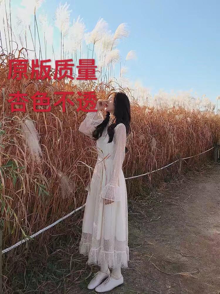 珊珊仙仙气质温柔风 小高领打揽蕾丝网纱系列连衣裙/上衣