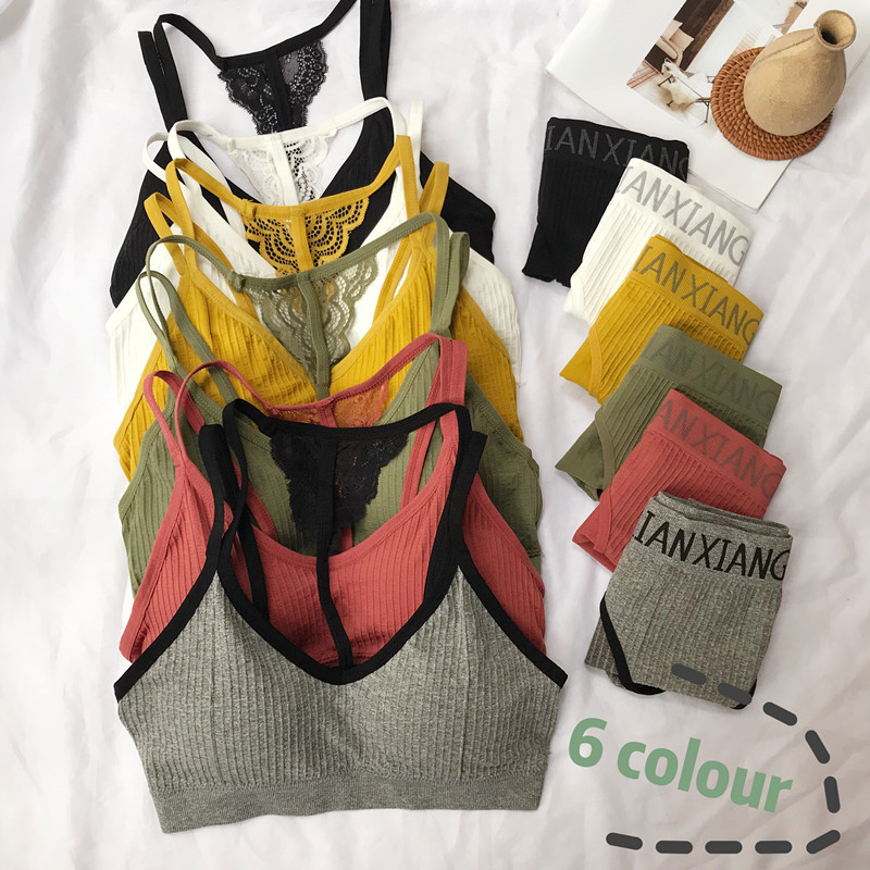 Real Shot List Firm Offers Autumn And Winter New Style Korean-Style Gather No Wireless Wrapped Chest-Sexy Students Movement Set Underwear VIC0515