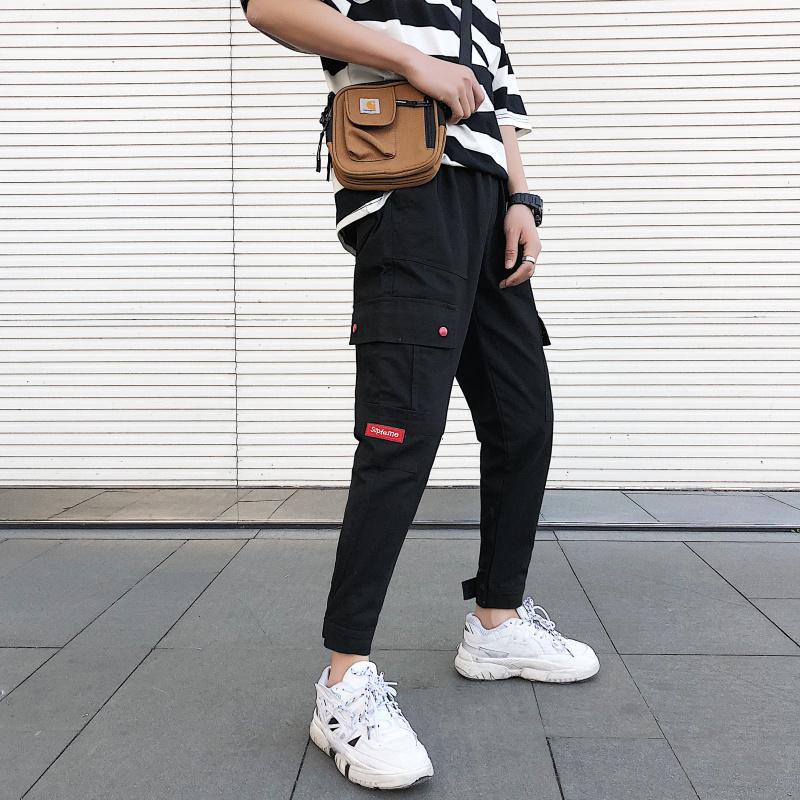 Cargo Pants Male 2019 New Style Spring Summer Beam Feet Loose Popular Brand Pants Korean Version of the Trend Leisure Feet JB0101