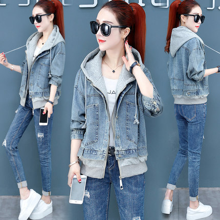 Denim Jacket Female 2019 New Style Women Spring Korean-Style Spring Short Wild Loose Popular Spring And Autumn Leisure Tide