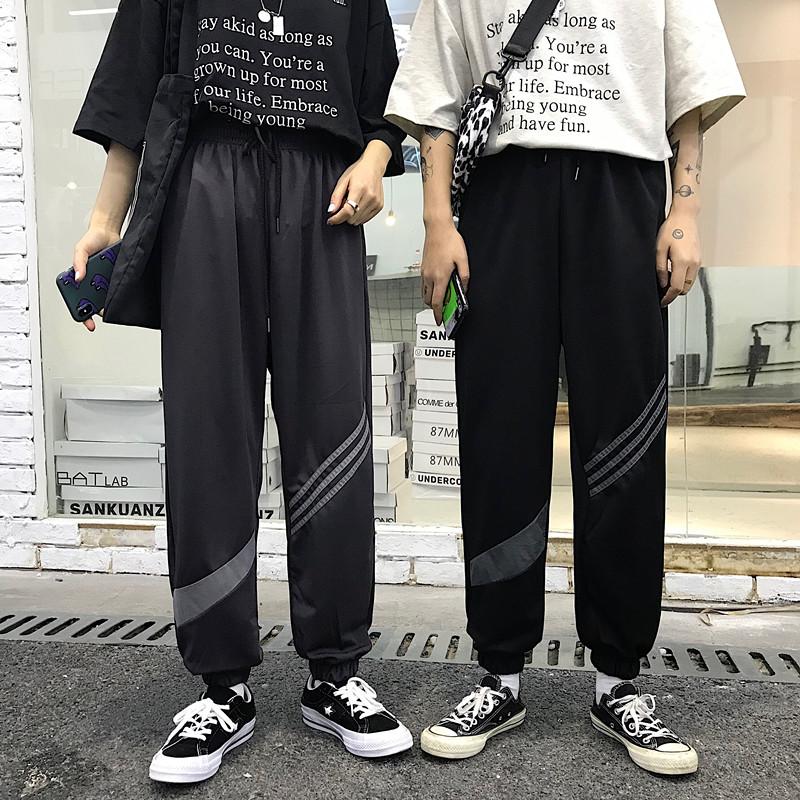 New Style Ins nan nv Leisure Trousers Movement Loose Beam Feet Harem Pants Hiphop Hip-hop Tide