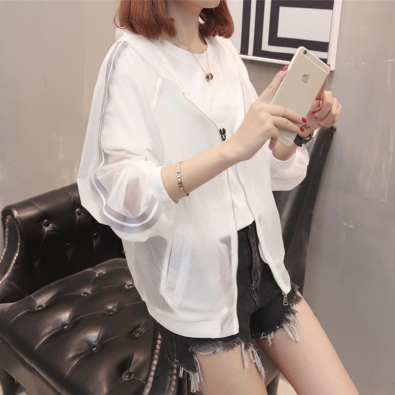防晒衣女2019夏季新款韩版外搭薄款透气防紫外线外套长袖防晒服潮