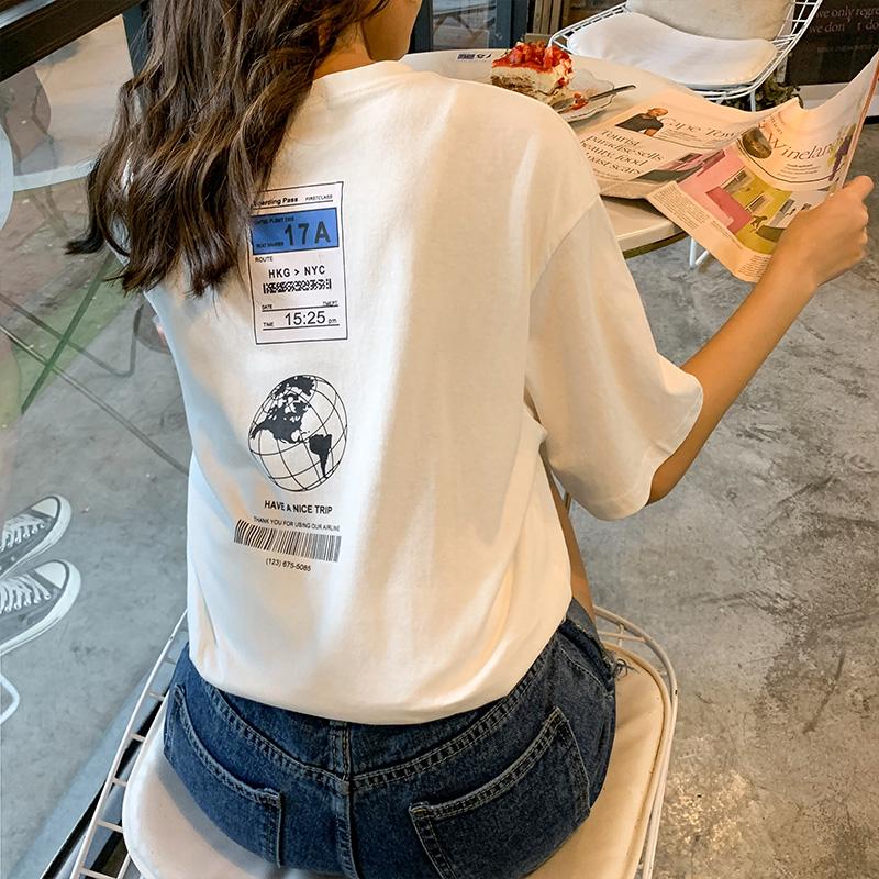 純棉好質量 情侶 大版型寬松BF oversize短袖T恤女 實拍