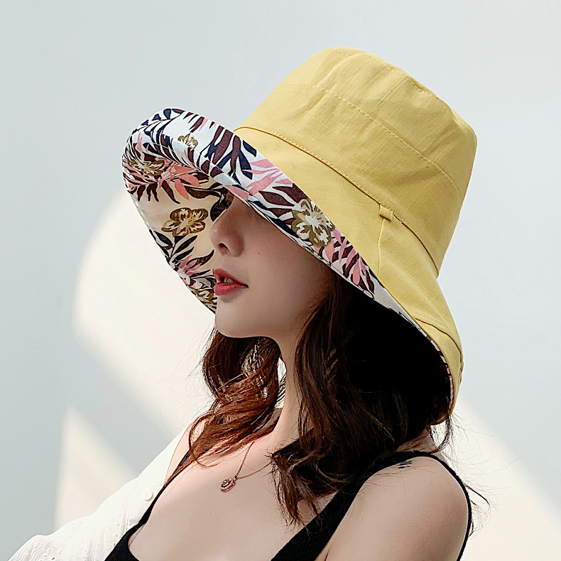帽子女夏天大檐漁夫帽防曬遮陽帽海邊沙灘ins網紅日系雙面盆帽
