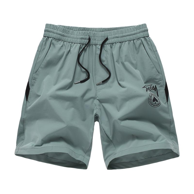 夏季運動休閑男士短褲潮牌 五分褲男生純色系帶沙灘褲