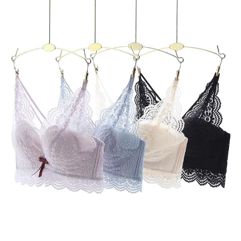 小胸美背性感蕾丝女士内衣聚拢舒适调整型文胸记忆棉胸罩