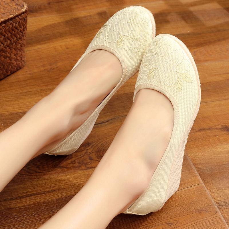 實拍現貨 新款中國風女鞋民族風繡花鞋復古舞蹈漢服鞋單鞋