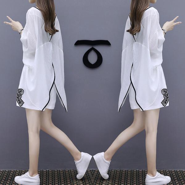 棉麻短裤套装欧洲站2019夏季新款女装宽松显瘦修身休闲气质两件套