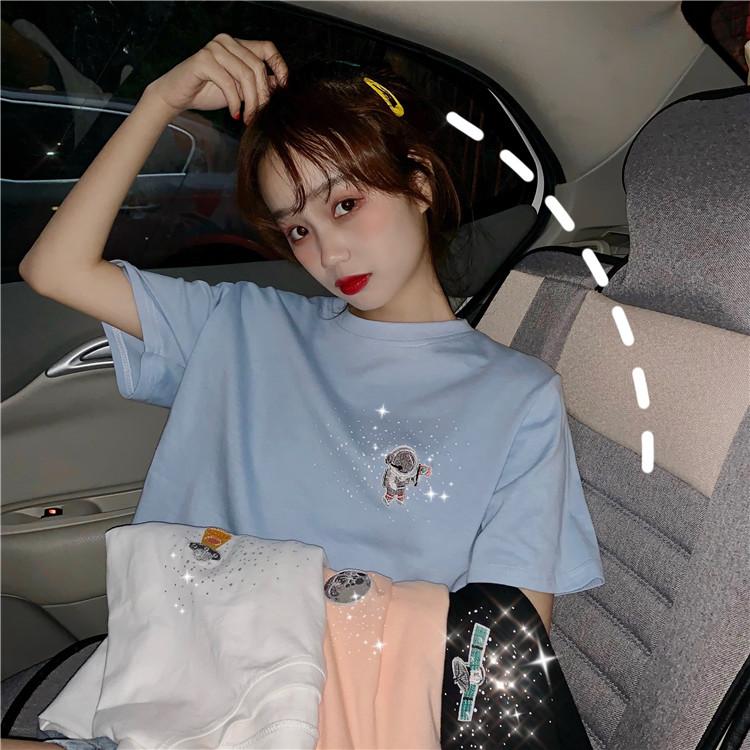 官方图2019新款春夏韩版短袖T恤打底衫女网红ins超火