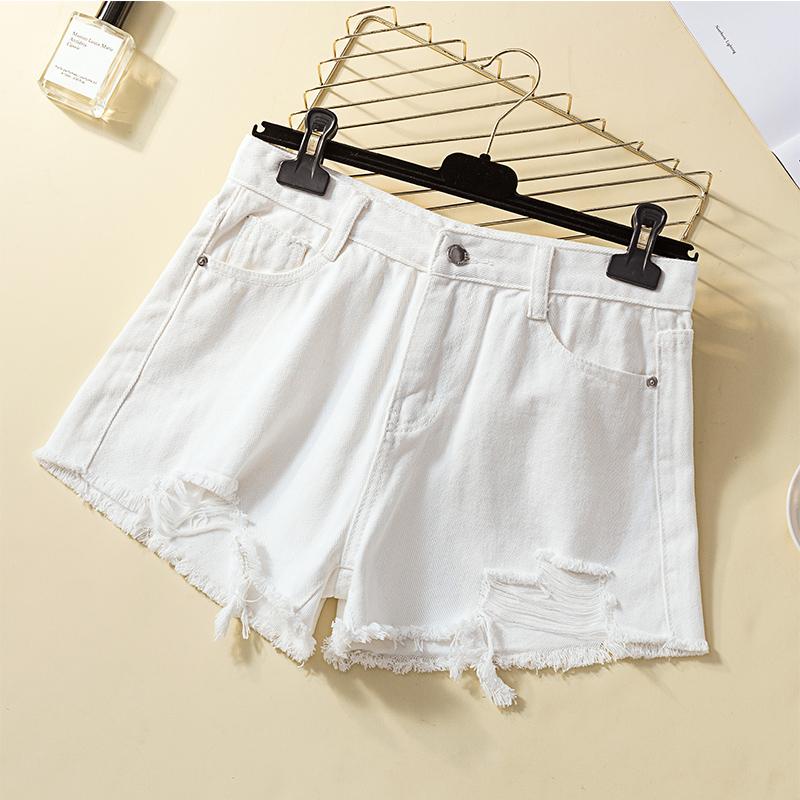 大码女装胖mm2019夏装新品修身显瘦裤子胖妹妹加肥加大牛仔短裤