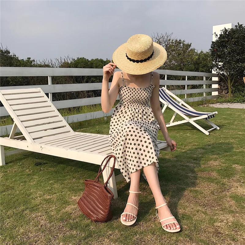 实拍 2019夏季新款韩国东大门网红同款复古风细带凉鞋