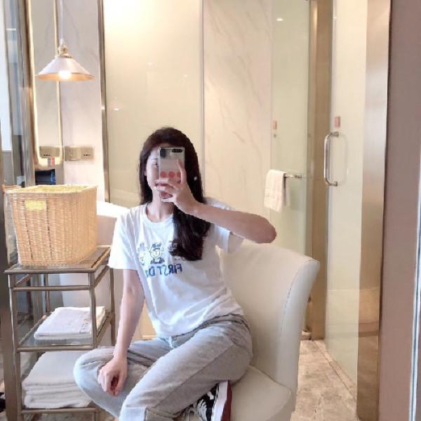 休闲三老头套装女短袖t恤长裤2019夏天新款时尚两件套