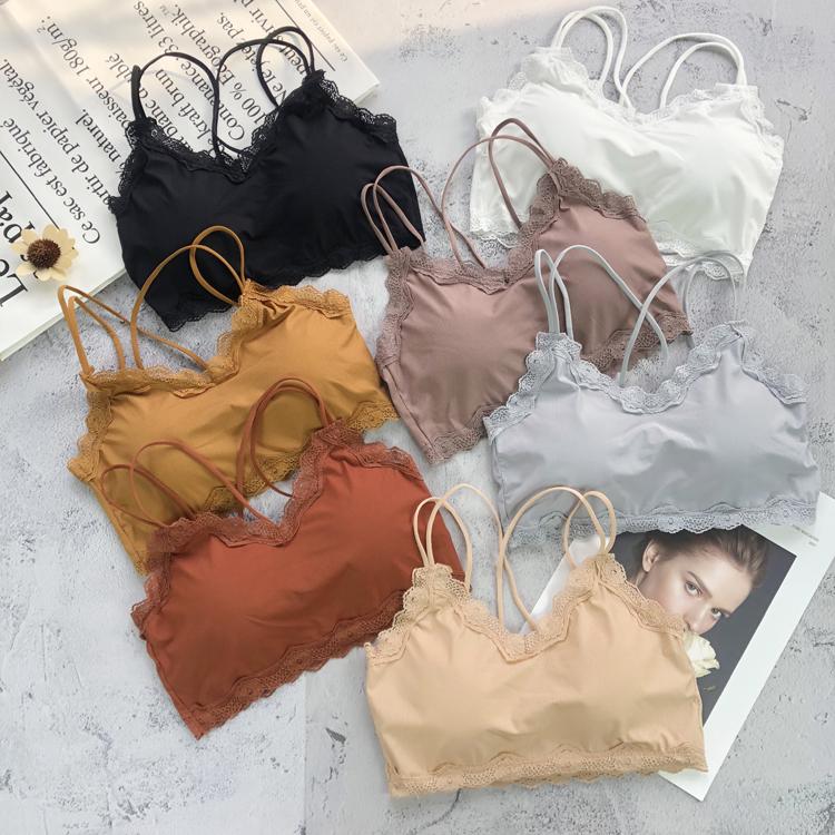 夏季韩版法式女士无抹胸少女内衣学生裹胸小吊带背心百搭打底