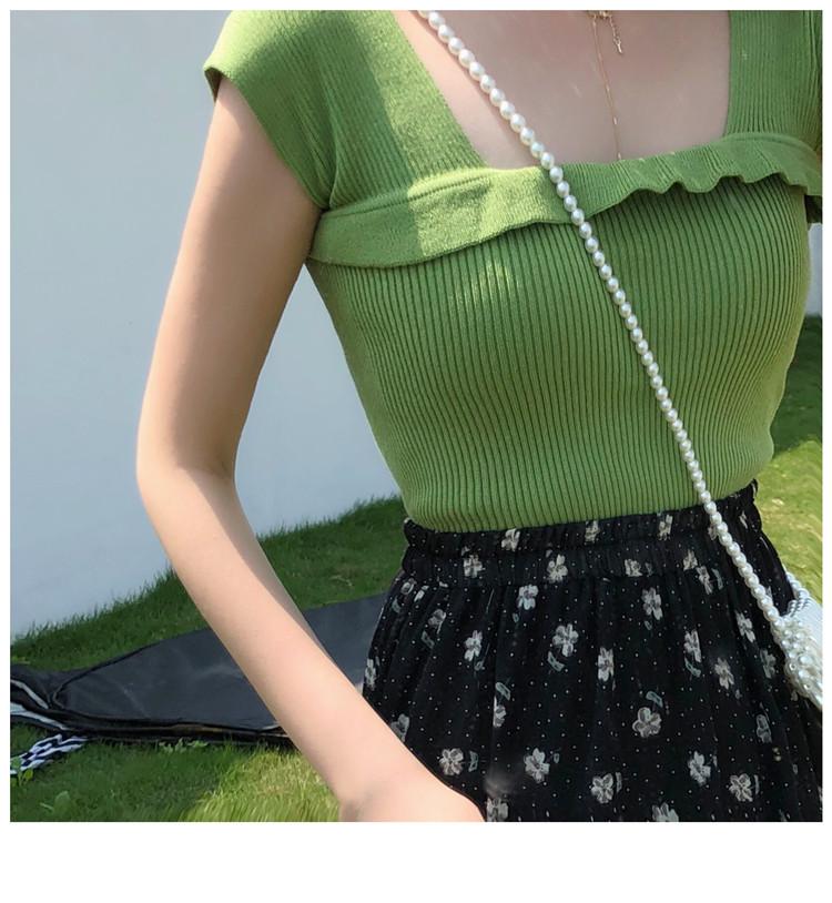 apm泫雅背心网红同款外穿针织吊带宽肩带上衣无袖T恤女内搭打底衫