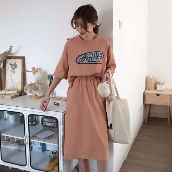 夏装2019新款套装女韩版显瘦时尚港味学生洋气网红两件套半身裙子