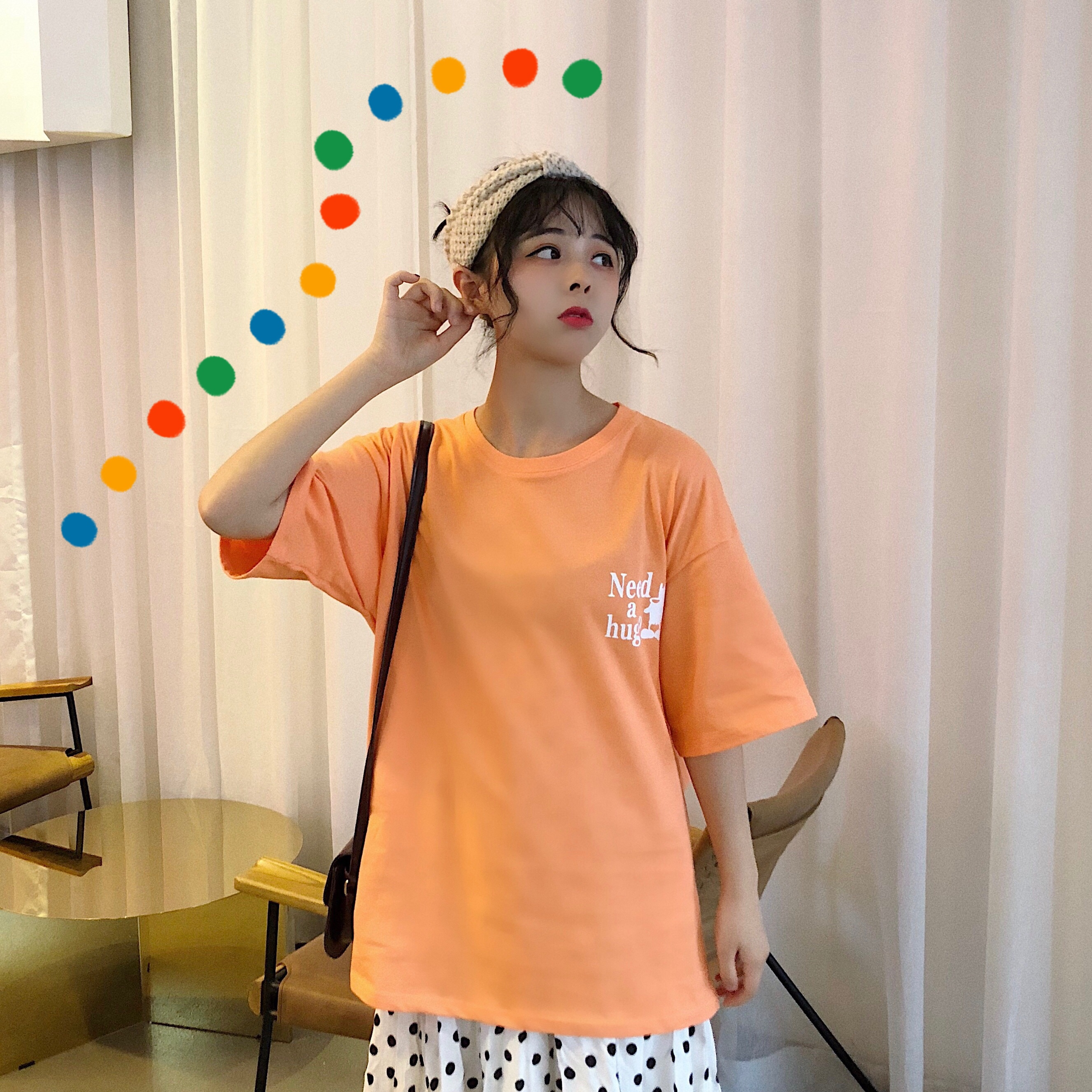 實拍2019新款T恤純棉寬松夏季圓領印花短袖女ins潮網紅半袖上衣