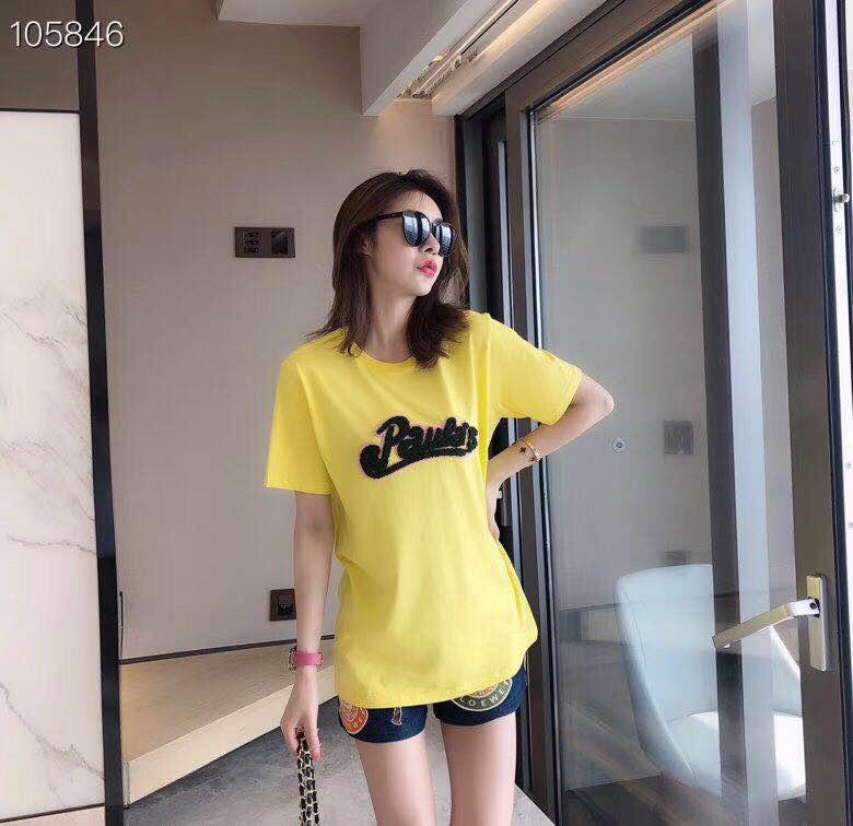 潮牌明星同款夏季短袖t恤女港味2019新款韩版宽松印花纯棉体