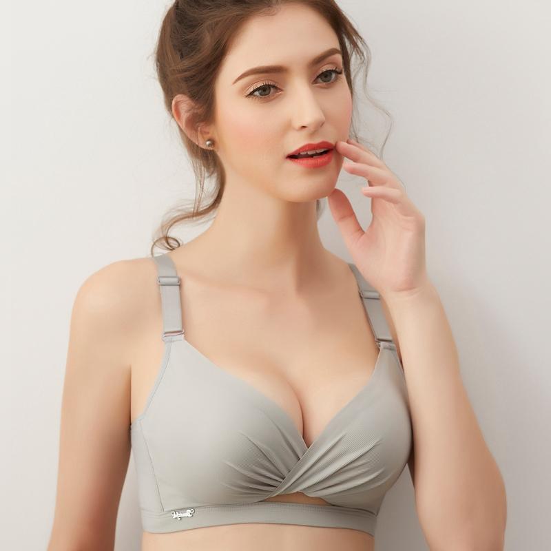 無鋼圈聚攏文胸內衣少女學生調整型性感加厚收副乳上托小胸罩